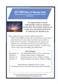 2017 Free Power of Attorney Event