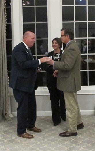 Brian Reiels receives 30-year pin