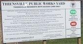 Yard Waste Site Sign