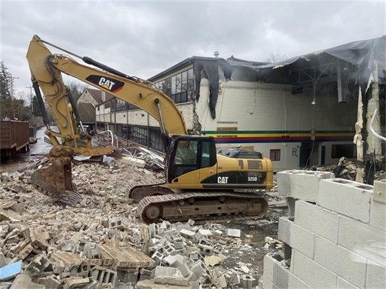 Demolition of Lumen Christi School