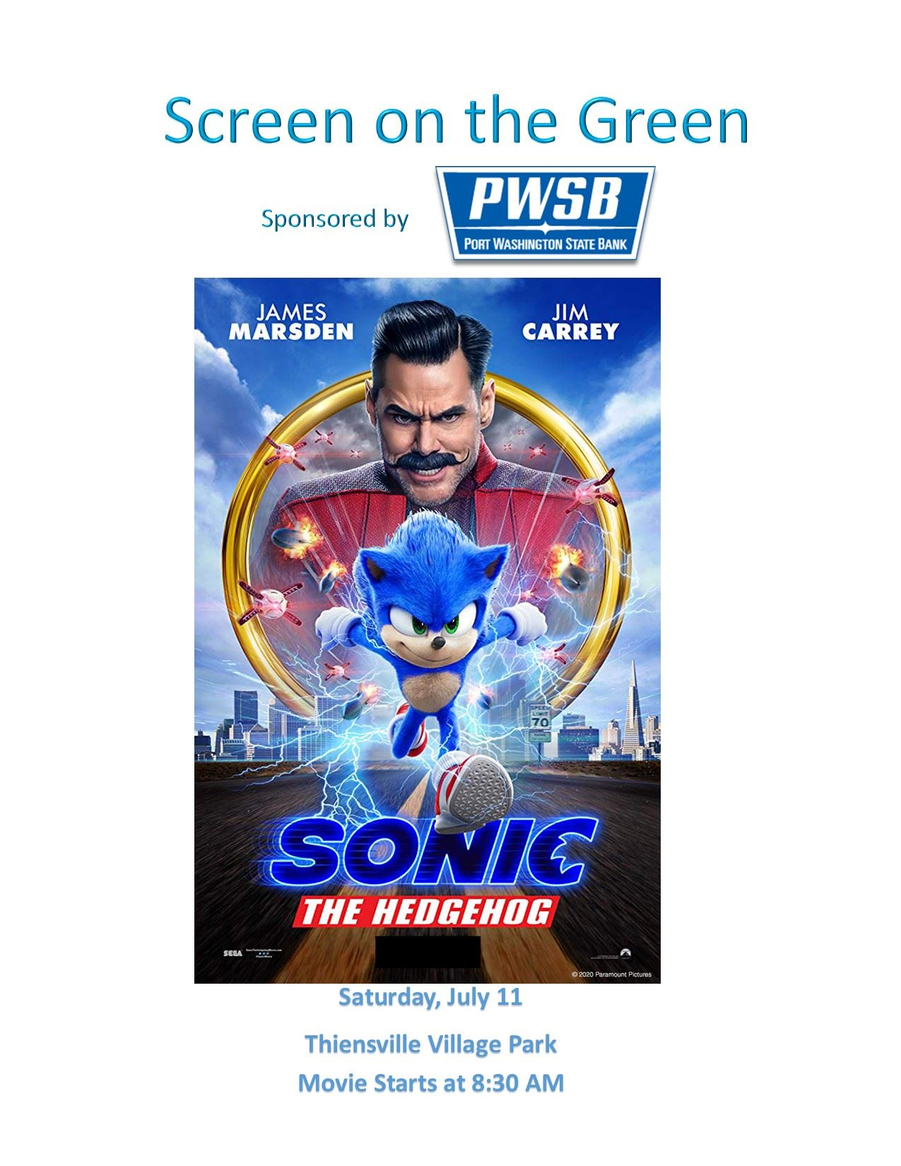 Screen on Green Sonic Poster JPEG